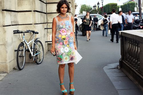 Miroslava Duma in  Christopher Kane (image: grazia.it)