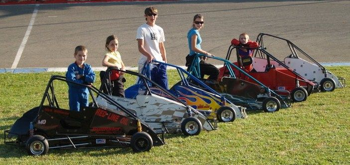 The Williams Family Racing Quarter Midgets At Prarie City Ca