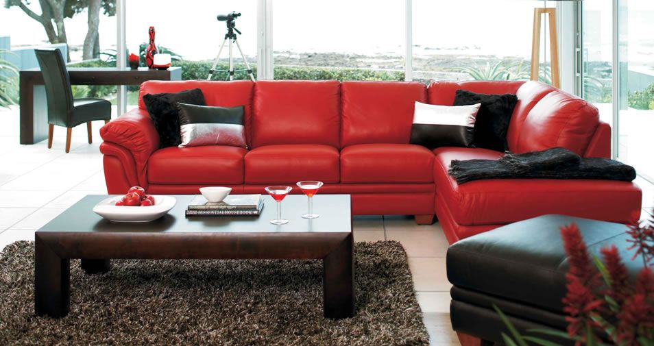 Martelli 2 Piece Leather Corner Lounge Furniture From Harvey Norman