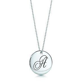 25870f757 Tiffany initial necklace... <3 | Fashion | Jewelry, Tiffany, co ...