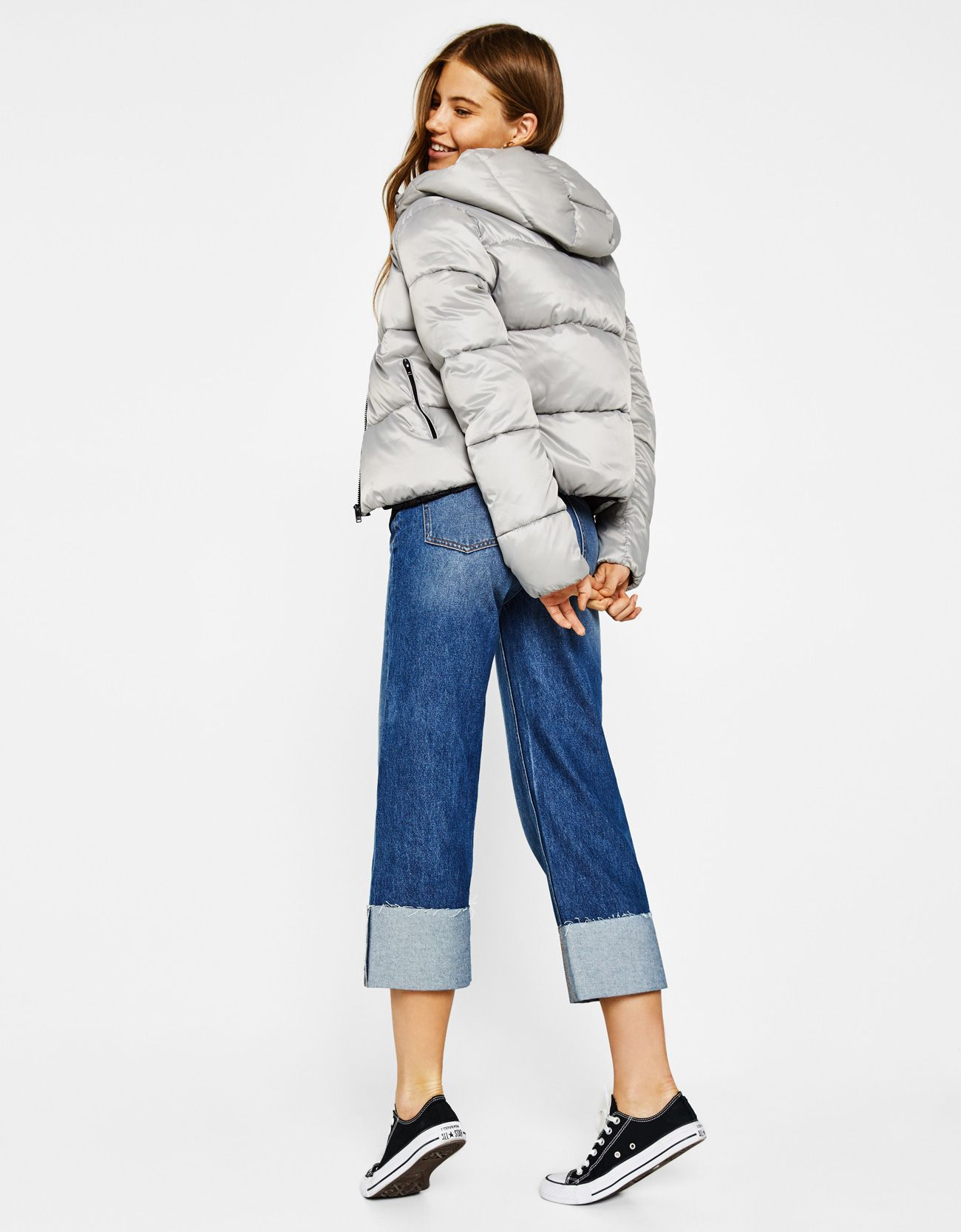 Puffer Jacket With Hood Discover This And Many More Items In Bershka With New Products Every Week Jackets Hooded Jacket Puffer Jackets [ 1667 x 1300 Pixel ]