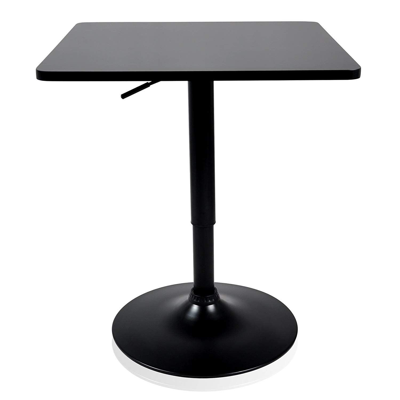 Krei Hejmo Adjustable Square Dining Cocktail Table With Metal Base Veraœo Orta Black Square 23 6x23 6 Cocktail Tables Table Luxury Dining Tables