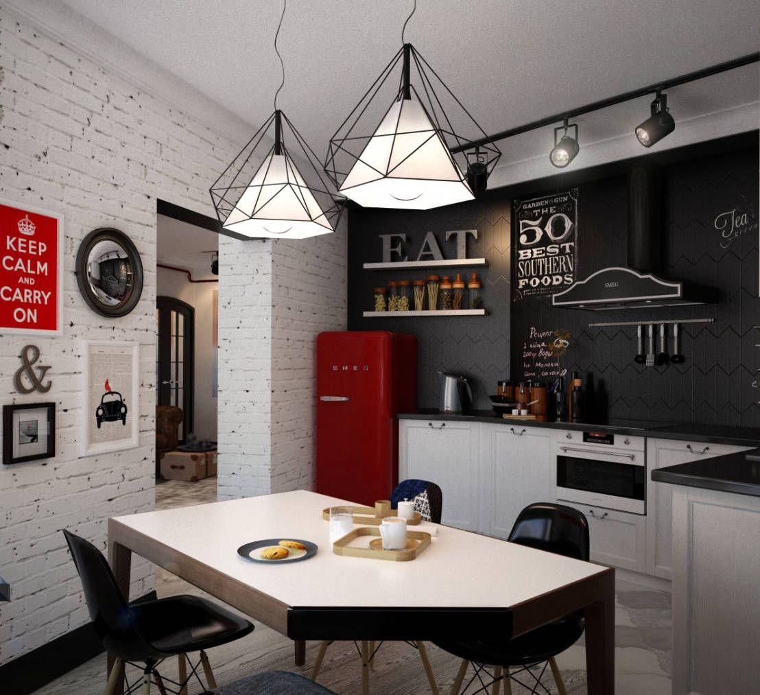 что делать с кирпичной стеной в интерьере кухня Interior Design