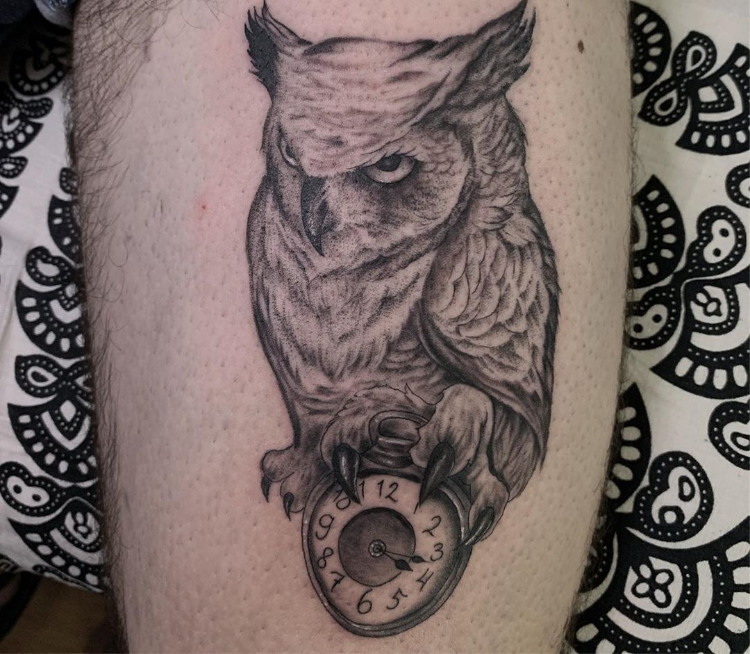 417 owl by pike thank you Bali Dream Ink Tattoo Studio