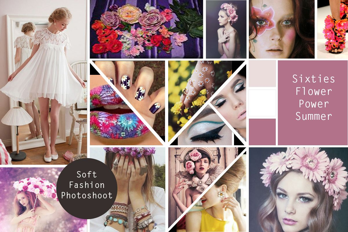 Moodboard Sample for 60s Fashion Photoshoot