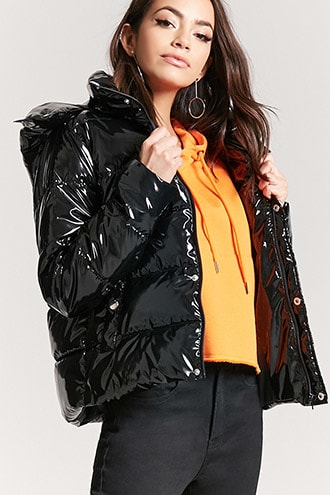 Sheeny Puffer Jacket   Forever21   shiny down coat   Pinterest ... 7c87480f3dc
