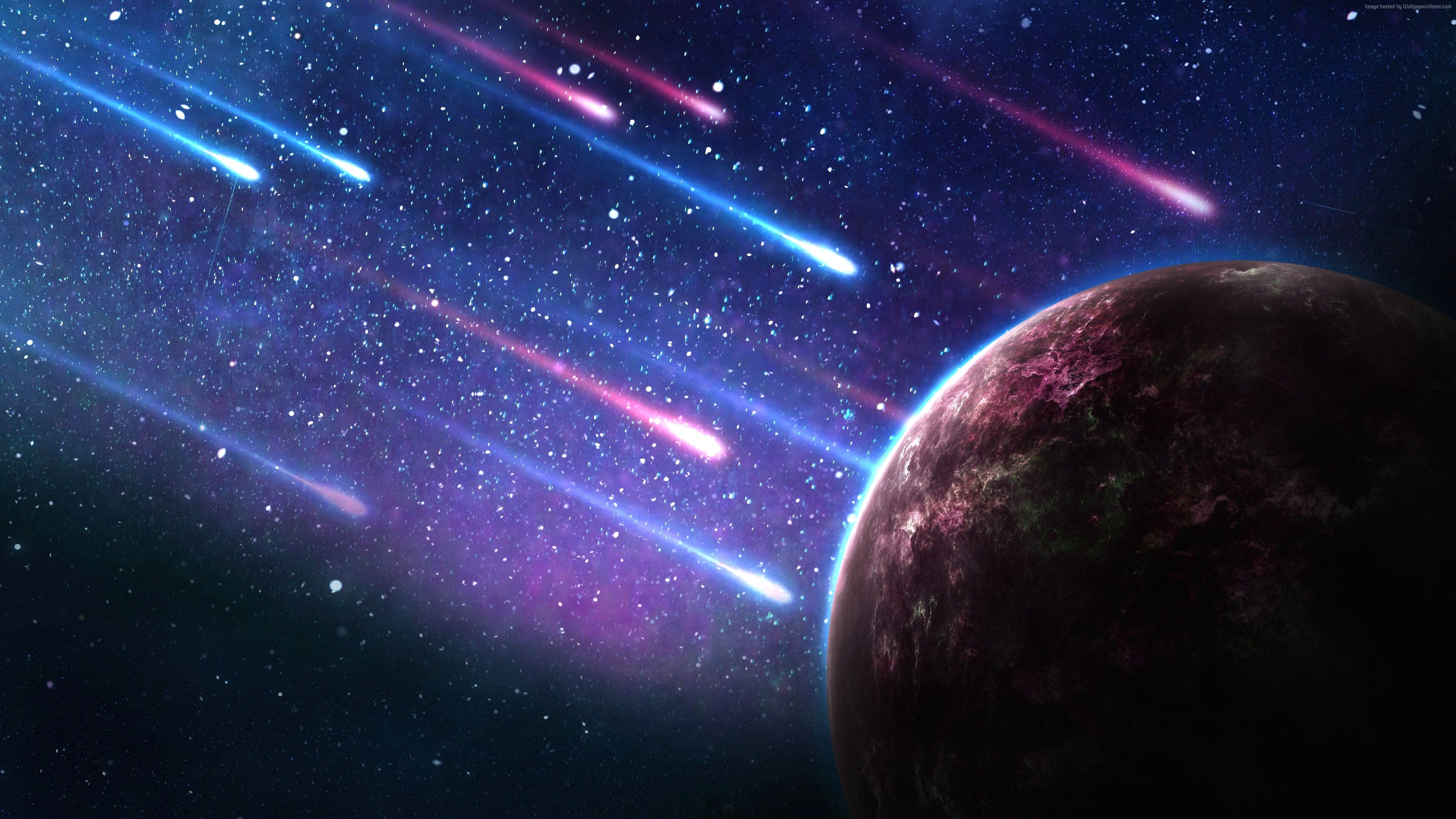 4k Wallpaper Space Download Gallery Di 2020 Galaxy Wallpaper Hujan Meteor Langit Malam