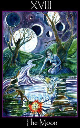 The Moon - Tarot of the Sidhe | Tarot 18 the Moon in 2019
