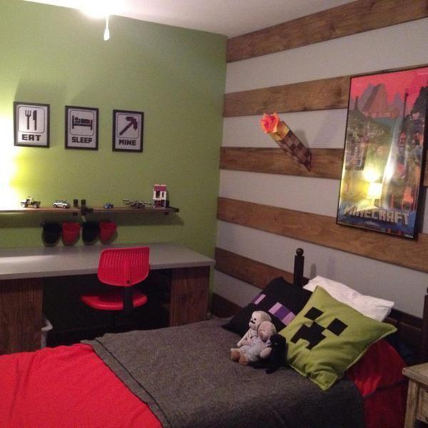 Minecraft Bedroom Idea Minecraft Bedroom Decor Boys Minecraft