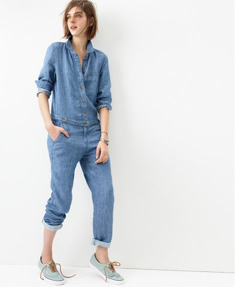 Go all-in-one, head-to-toe denim on denim. Chambray Machinist ...