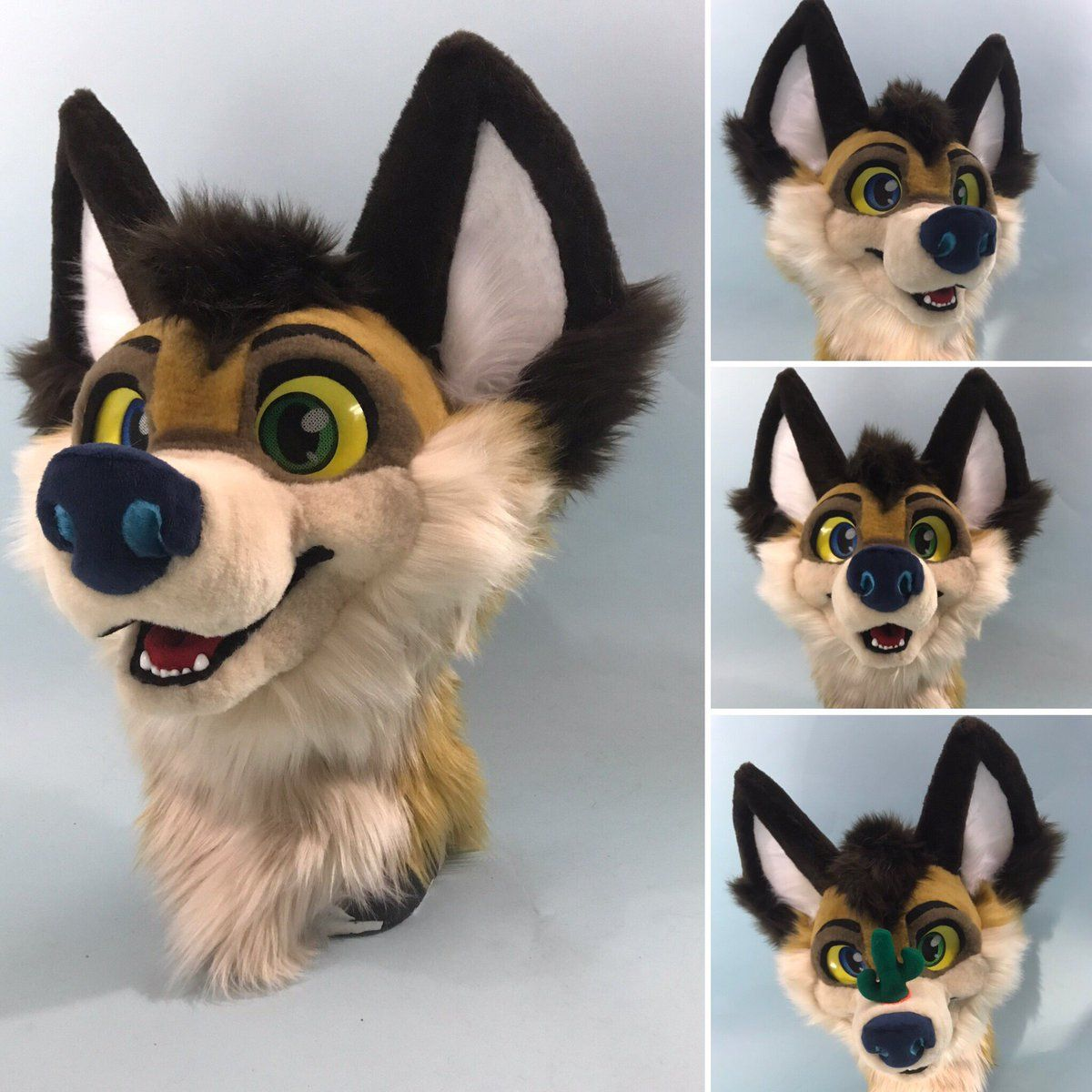 Canine fursuit tail wolf coyote fox dog long fluffy tail. costume tail