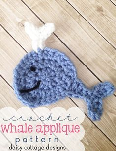 Crochet Whale Applique Pattern by Daisy Cottage Designs, via Flickr
