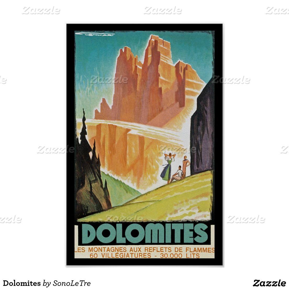Alto Adige Italy Vintage European Travel Art Advertisement Poster Picture Print