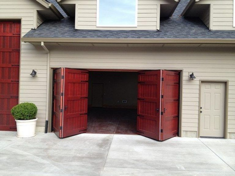 Bi Fold Garage Doors 16x8 Garage Door Automatic Garage Door Opener Garage Doors Garage Door Styles Carriage Doors