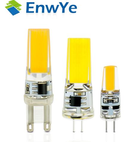 Enwye Led G4 G9 Lamp Bulb Ac Dc Dimming 12v 220v 3w 6w Cob Smd Led Lighting Lights Replace Halogen Spotlight Chandelie Lamp Bulb Chandelier For Sale Led Lights