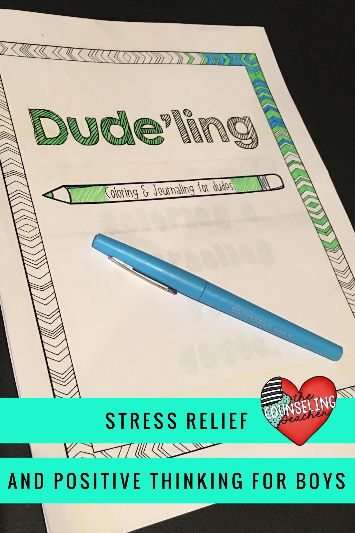 Stress Management Coloring Book And Positive Journal For