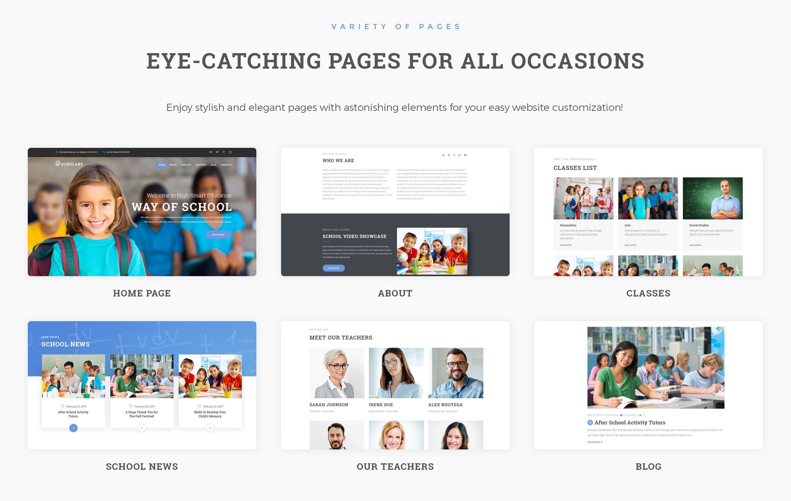 Scholary Primary School WordPress Theme 67505, Ad