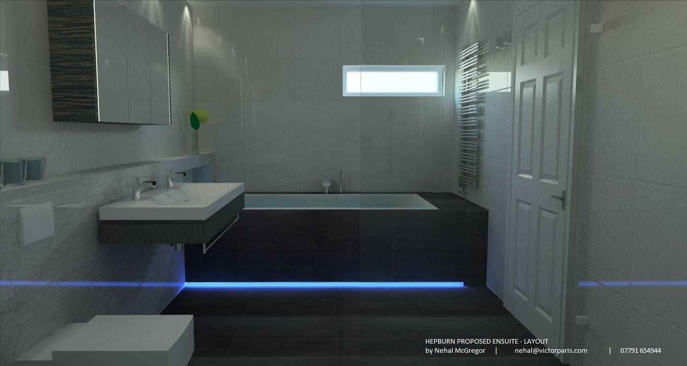 Delightful 2000 X 1000 Bath #1: Ensuite With Duravit Starck 2000x1000 Bath With LED Strip On Base. Duravit  2nd Floor Furniture