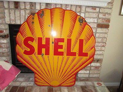 vintage gas station signs | Vintage Shell Gas Station