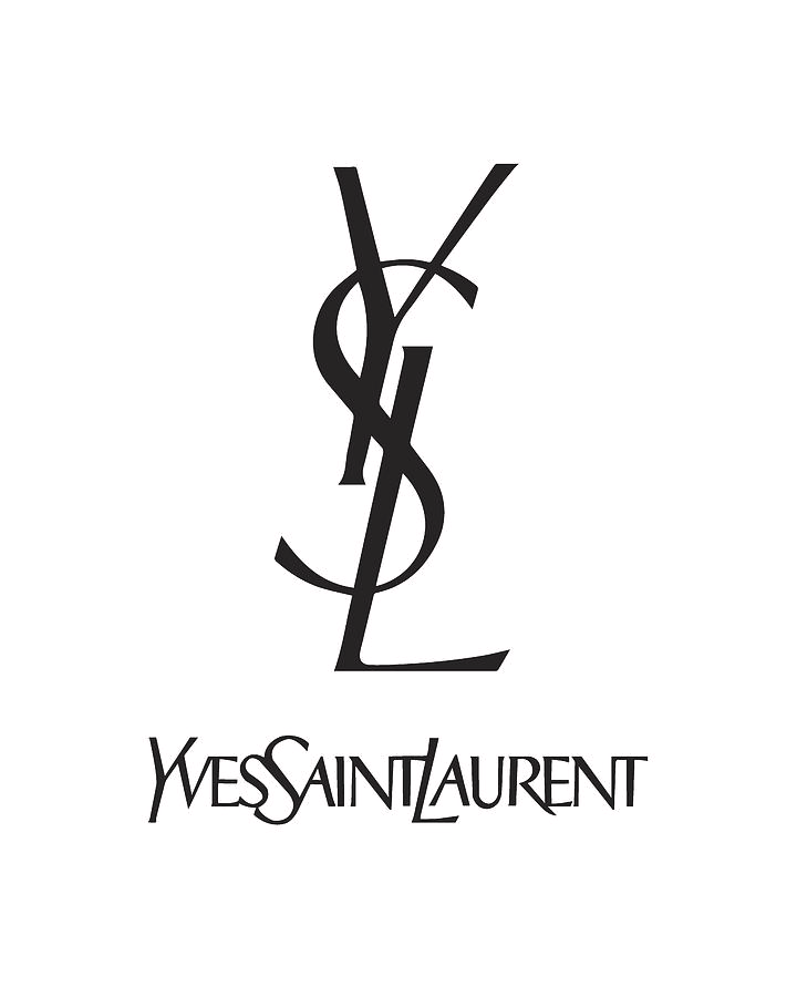 Yves Saint Laurent Ysl Black And Black And White Photo Wall Black And White Picture Wall Black And White Words