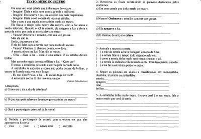 Atividades De Lingua Portuguesa Leitura Interpretacao