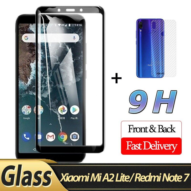 2 In 1 Front Glass Back Film Xiaomi Mi A2 Lite 3d Glass For Redmi Note 7 Screen Protector Xiaomi Mi A2 Lite Protective Glass Attention Valid Discount