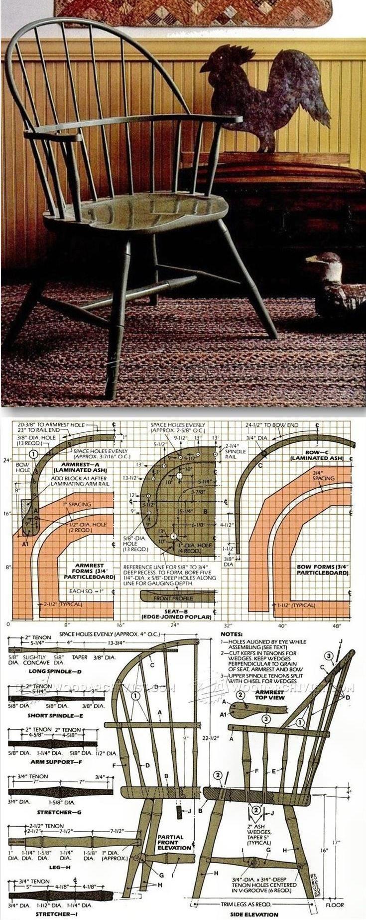 Classiс Windsor Chair Plans - Furniture Plans and Projects | WoodArchivist.com