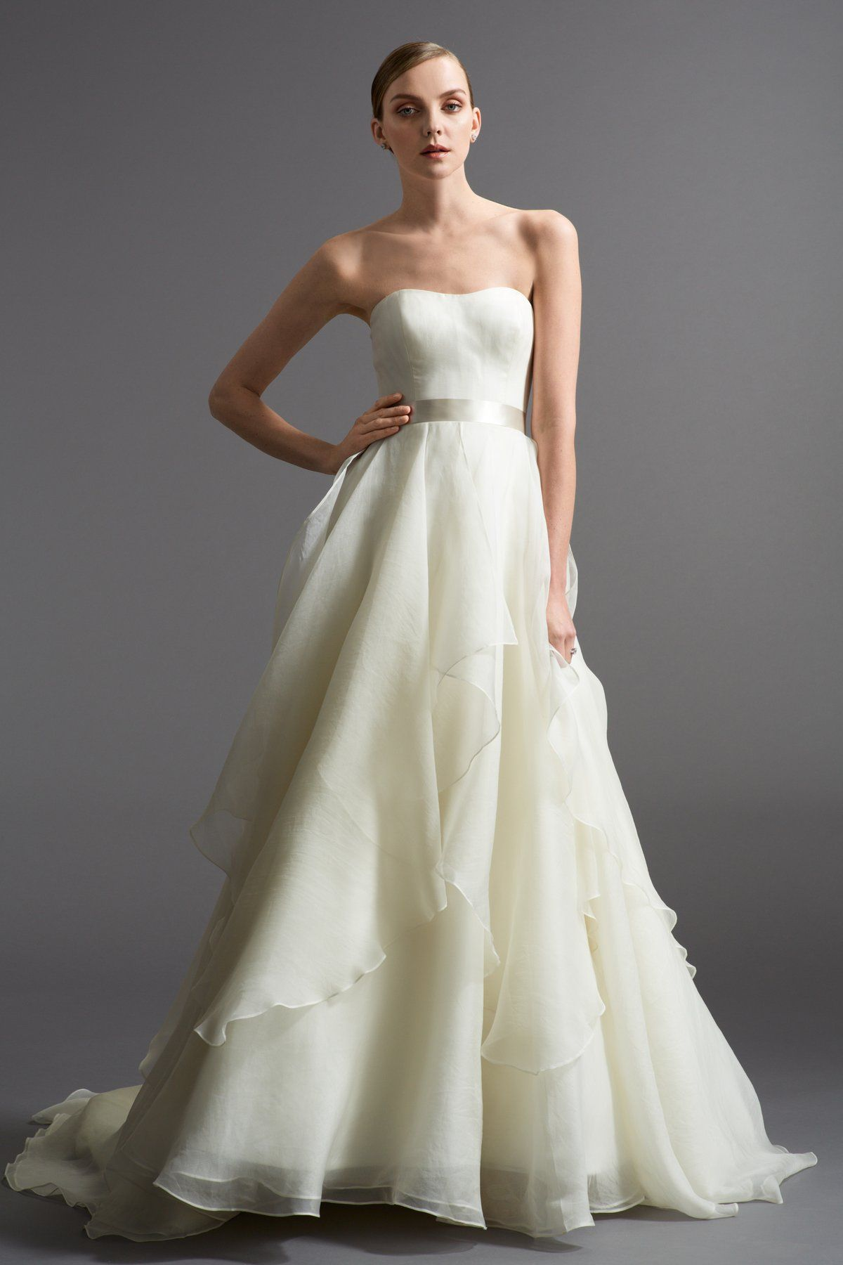 Watters: Zuanna 6035B | A Line Ball Gown, strapless semi sweetheart ...