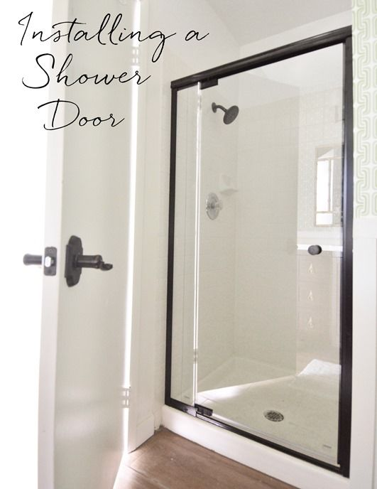 Installing A Shower Door Bathroom Shower Doors Diy Shower Door