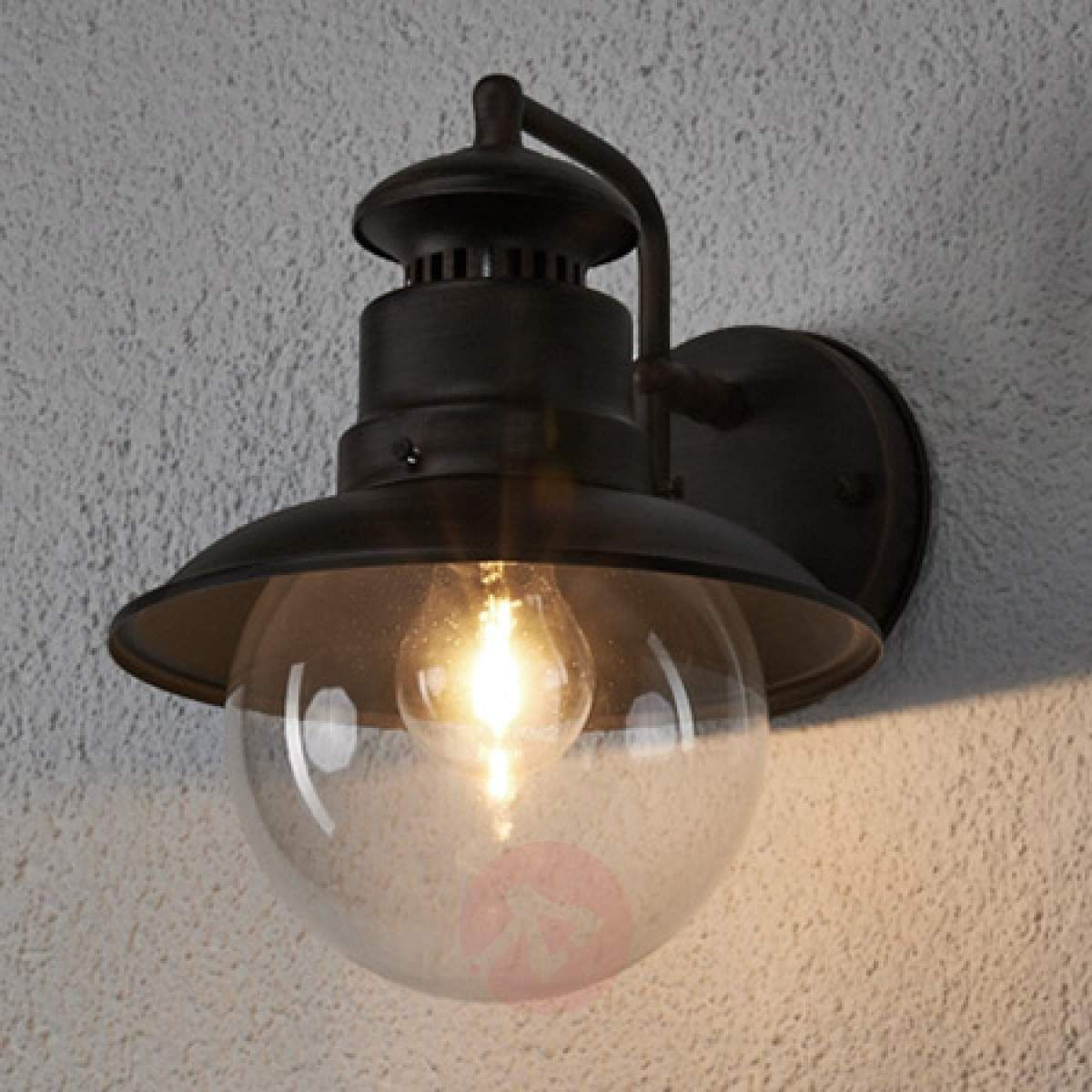 Rustykalna Zewnętrzna Lampa ścienna Eddie Ip44 Lampy