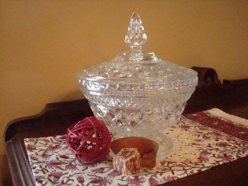 Vintage Anchor Hocking Wexford Covered Candy Dish | SelectionsBySusan - Glass on ArtFire
