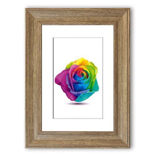 Rainbow Rose Cornwall Framed By Portrait Framed Wall Art East Urban Home Size: 70 cm H x 50 cm W, Frame Options: Teak #rainbowroses