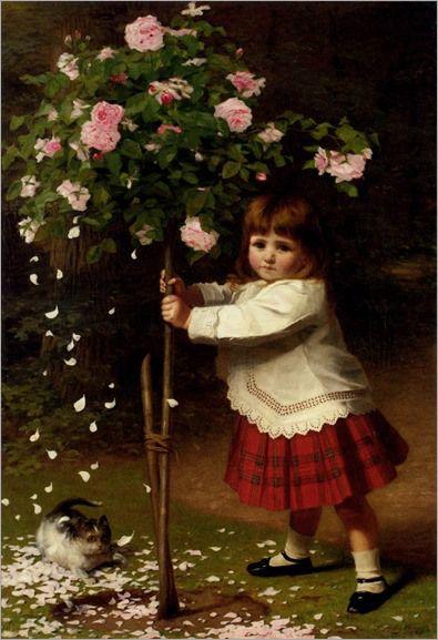 plagues_of_the_garden-James Hayllar (1829-1920, english)