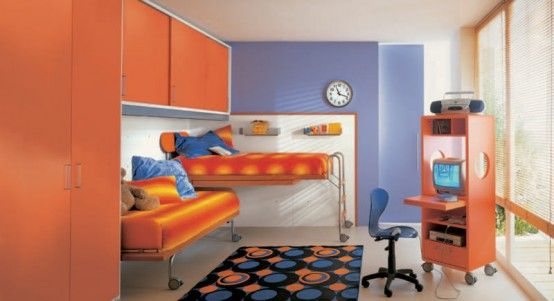 Lovely Cool And Ergonomic Bedroom Ideas For Two Children By DearKids Idea