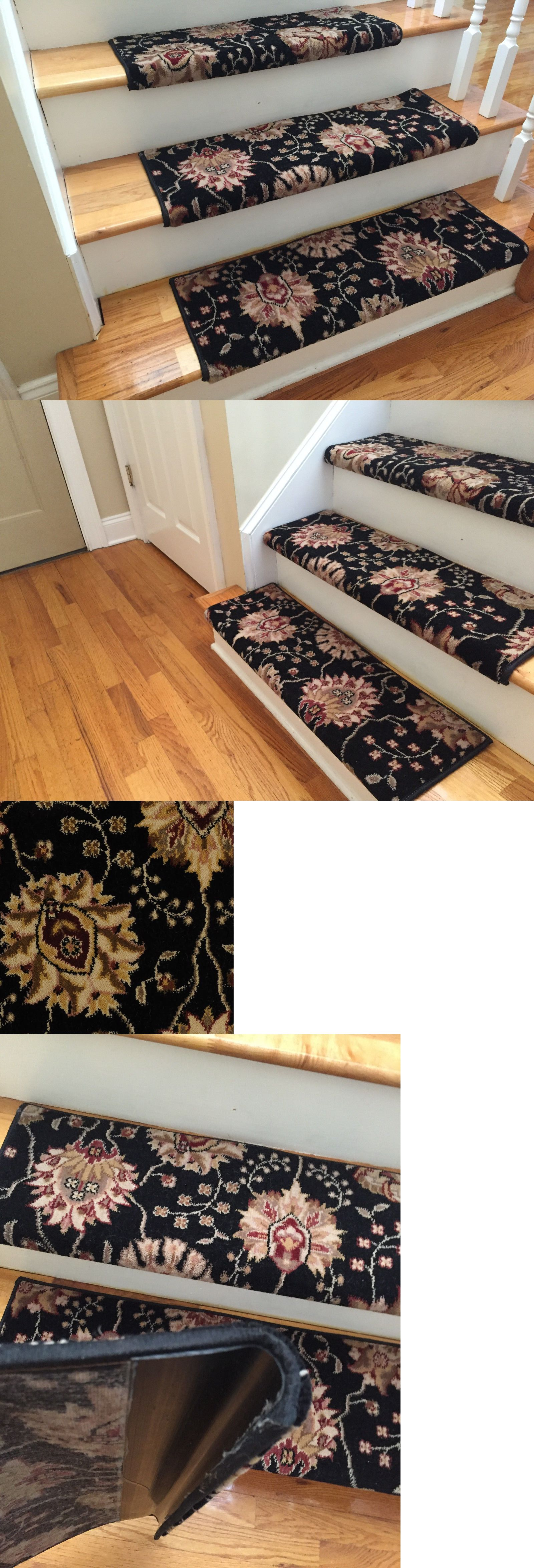 Best Stair Treads 175517 Midnight Custom Wool True Bullnose 640 x 480