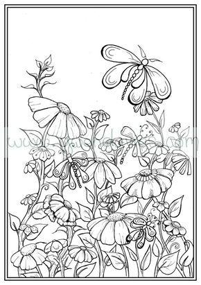 Adult Colouring In PDF Download Garden Henna Zen By Gwendaviesart