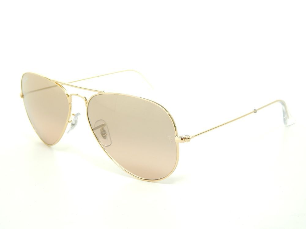 a1fe432fce New Ray Ban Aviator RB3025 001 3E Arista Brown-Pink Mirror Lens 55mm ...