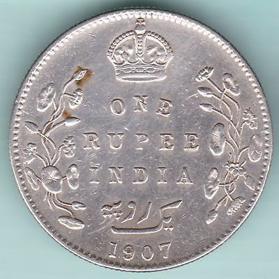 British India 1907 King Edward Vii One Rupee Rare Variety Silver Coin Old Coins Value Rupees Silver Coins
