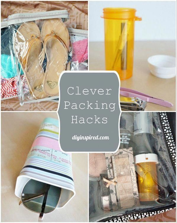 Clever and Thrifty Suitcase Packing Hacks #travelfrases