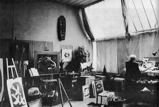 Braque in his studio, for The Artist in his Studio, copyright 1966.