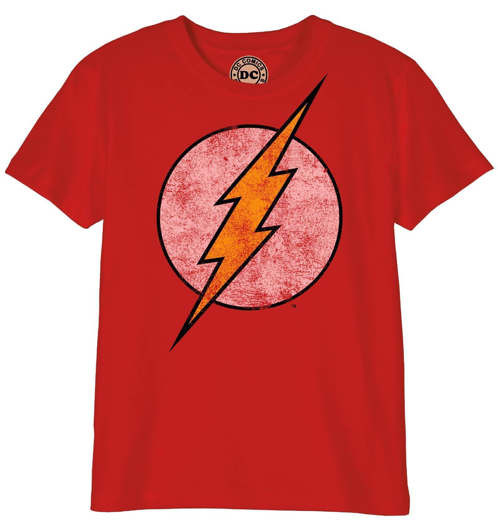 Le Flash Logo Homme Rouge T-shirt en coton à manches courtes-DC Licence Officielle