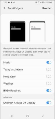 How To Add Or Remove Face Widgets On Lock Screen Samsung