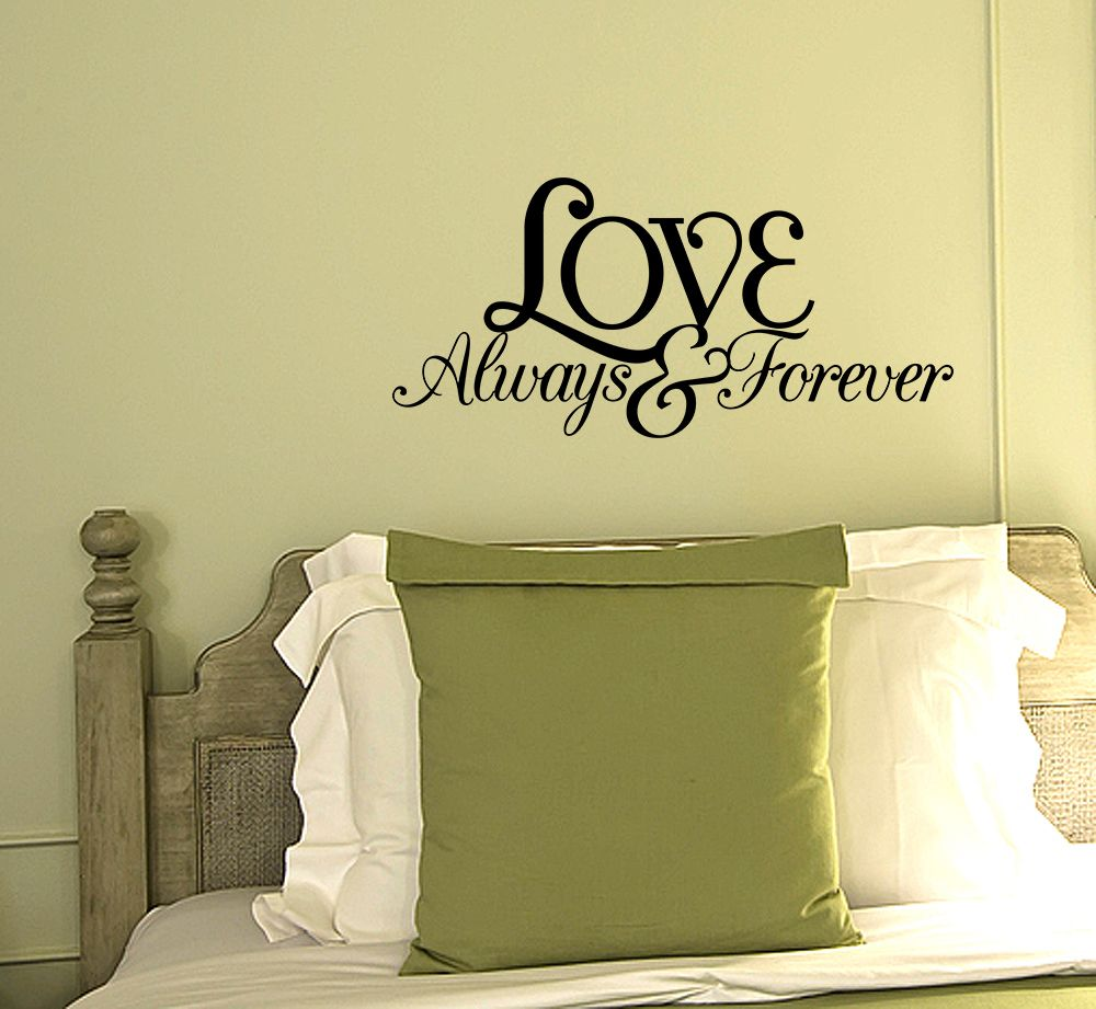 Love Always and Forever Vinyl Quote Wall Decal Love Couple Family ...