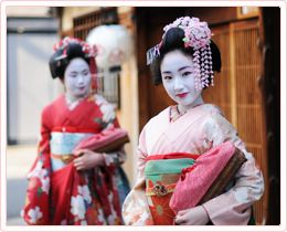 Indulging in the Maiko world by walking down the street of ancient Kyoto - Company in Kyoto that will dress and make you up as a geisha or maiko.