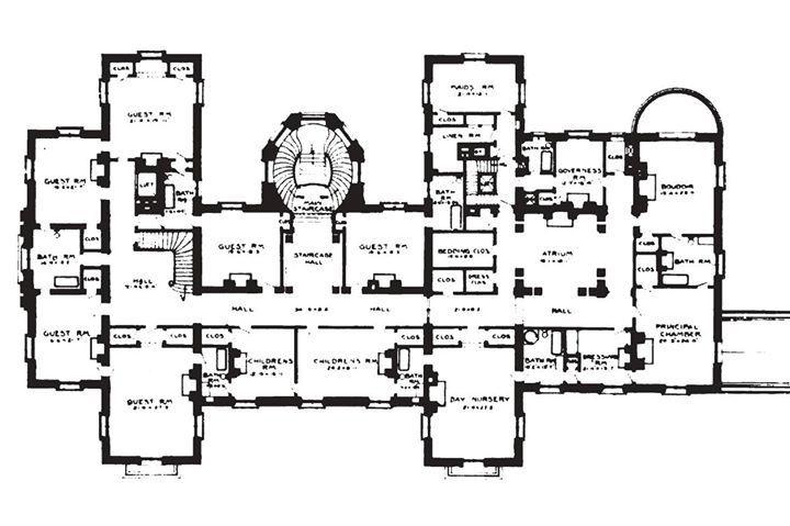Blairsden Mansion Architectural Floor Plans Mansion Floor Plan Floor Plans