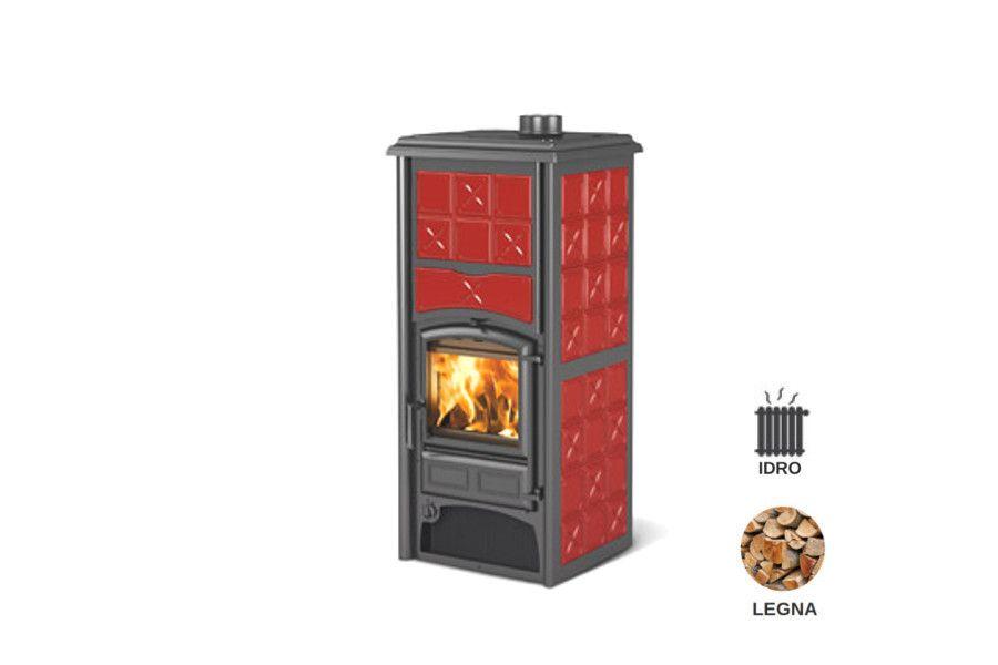 Termostufa a legna idro collegabile direttamenteall 39 impianto dei termosifoni rivestimento - Termostufa a legna idro ...