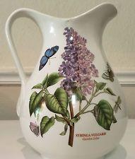 """Portmeirion Botanic Garden Syringa Vulgaris Lilac Water Juice Jug Pitcher 8 1/2"""""""