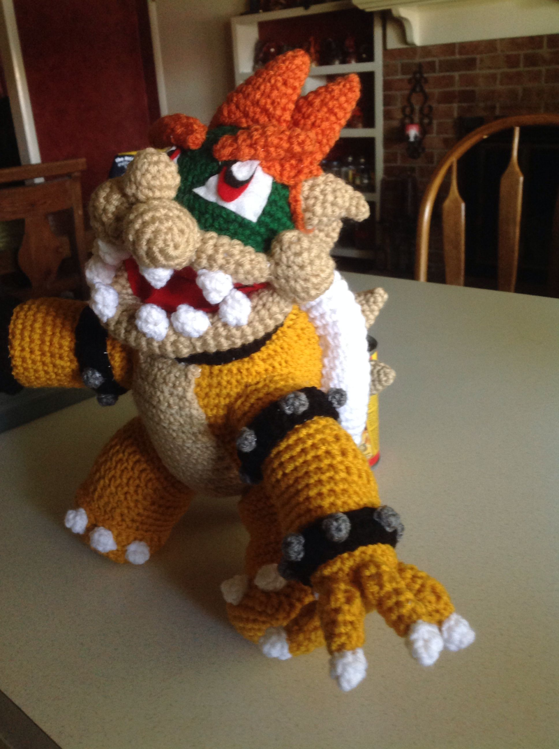 My Bowser, had to take a break from the spikes on arms/neck... But ...