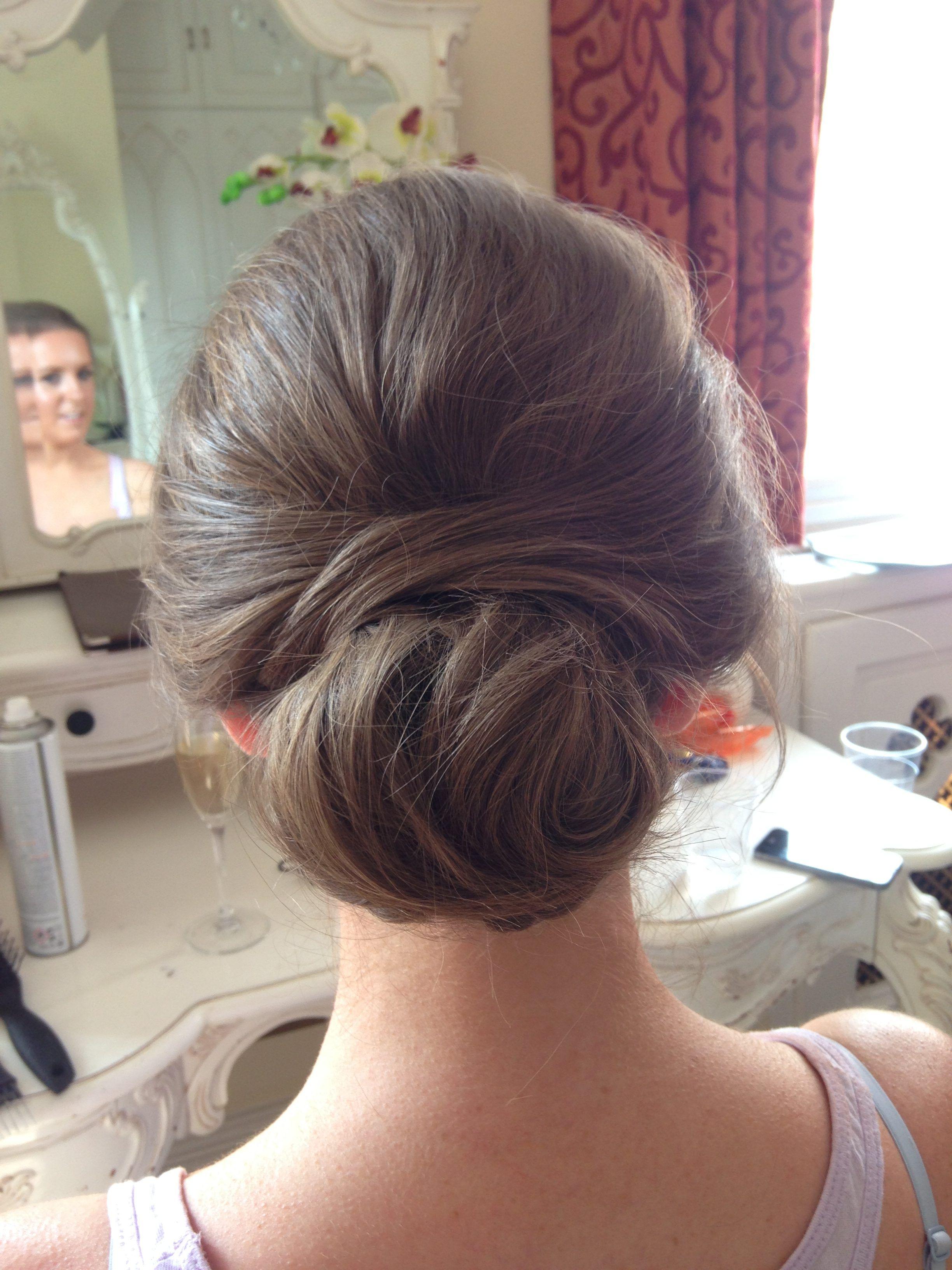 wedding hair - low sleek bun up do | wedding! | bridal hair