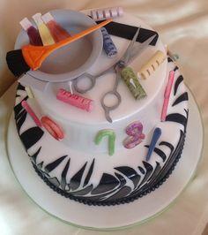 Hair Stylist Theme Cake